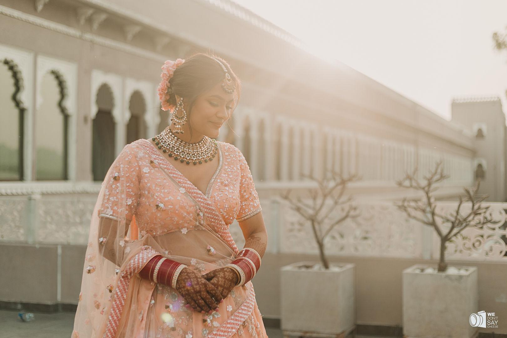 aesthetic shot of the delhi bride