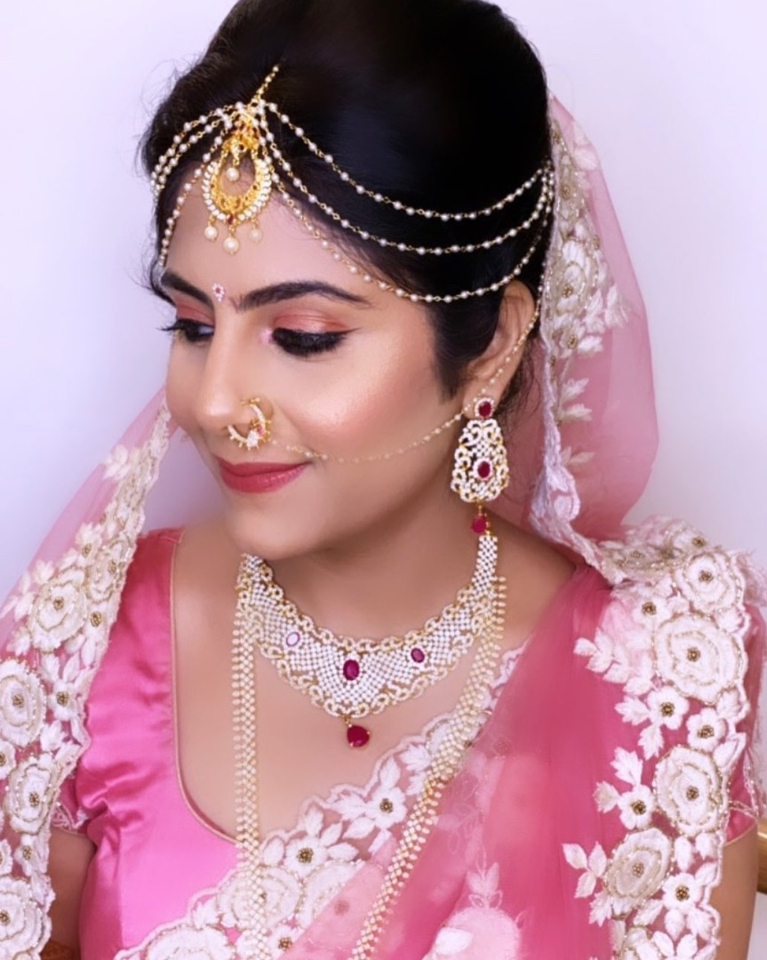 Pastel Pink Bridal Saree