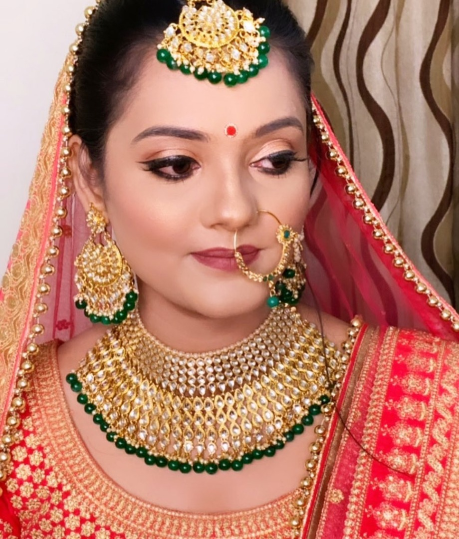 Golden and Green Bridal Accessories
