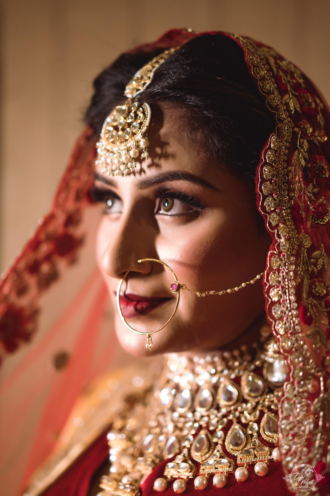 bridal makeup jewellery set