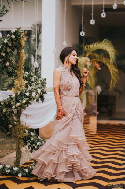 bridal saree wearing patterns