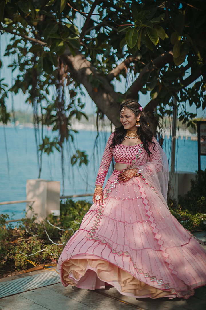 bridal shot by the lake