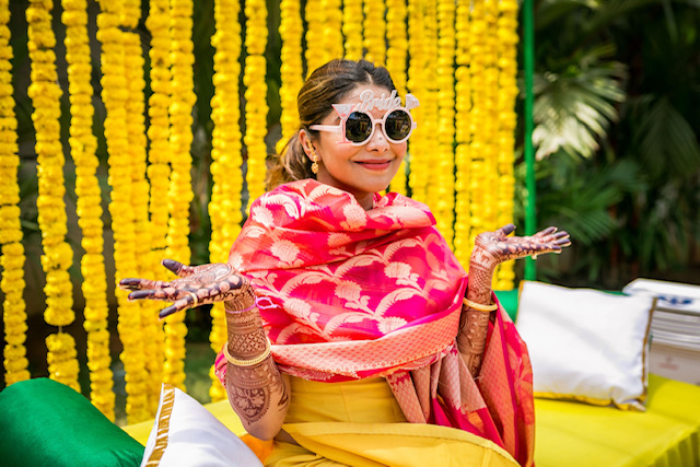 bridal wear for haldi function