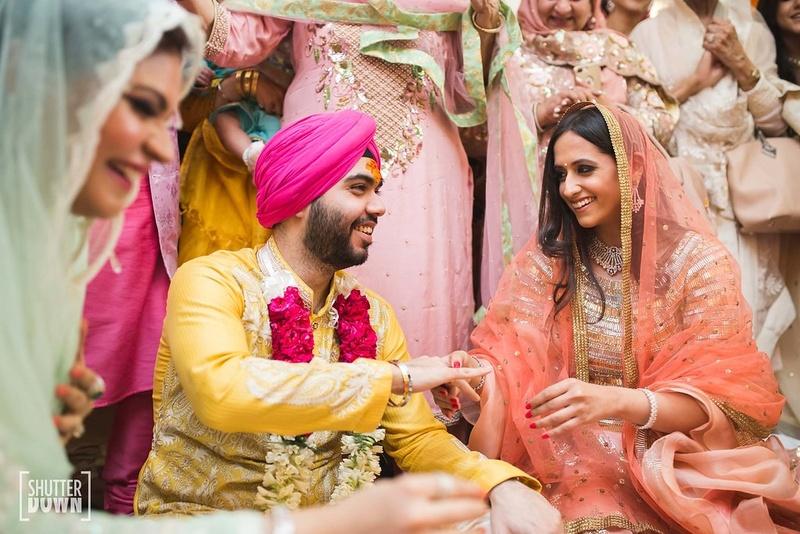 bride and groom pre wedding function candid capture a candid capture of the bride and groom at a pre wedding function