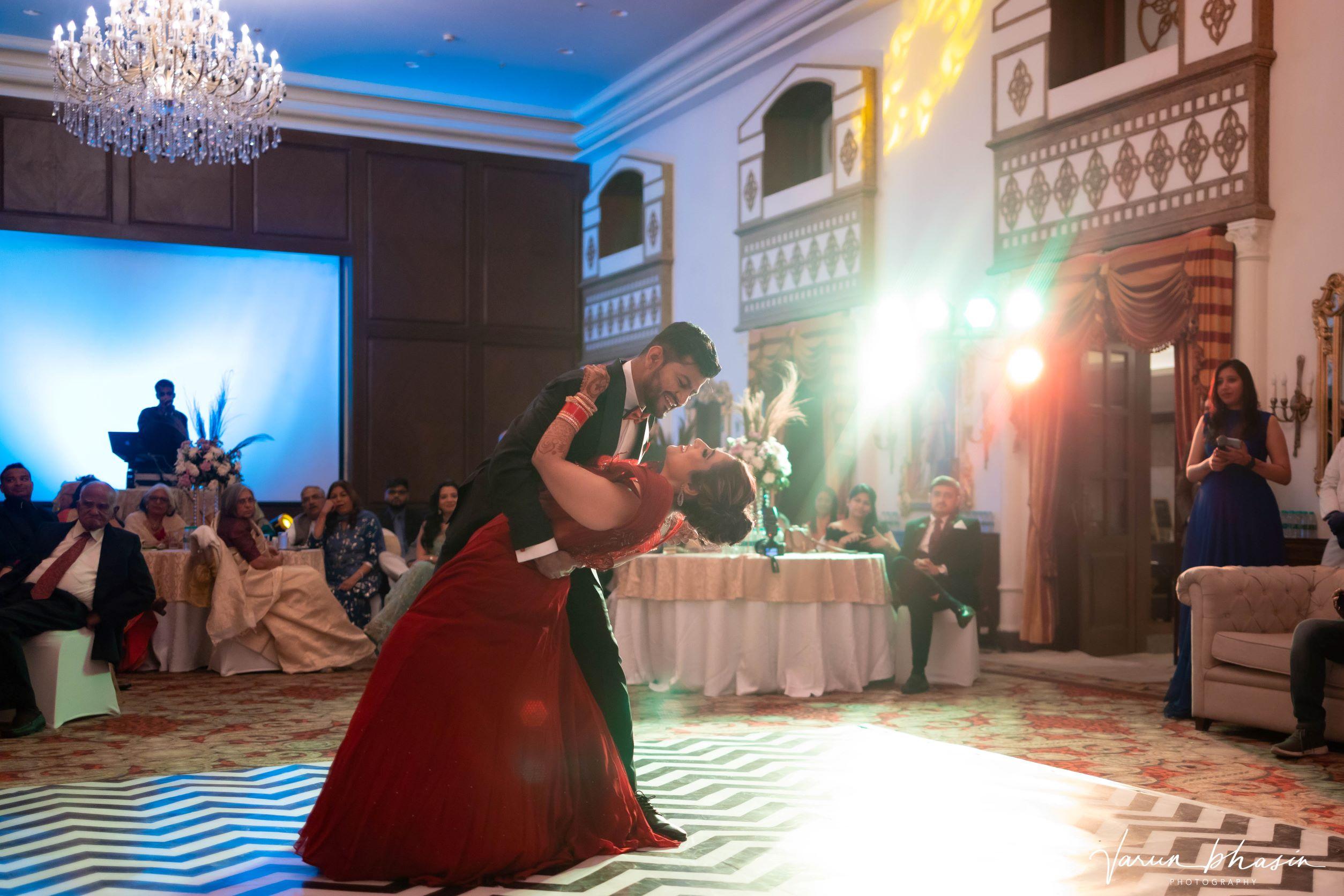 bride dancing with her groom
