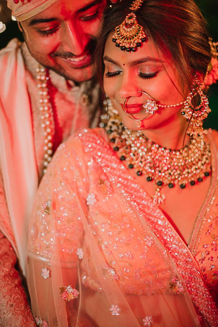 bride in dewy natural bridal makeup