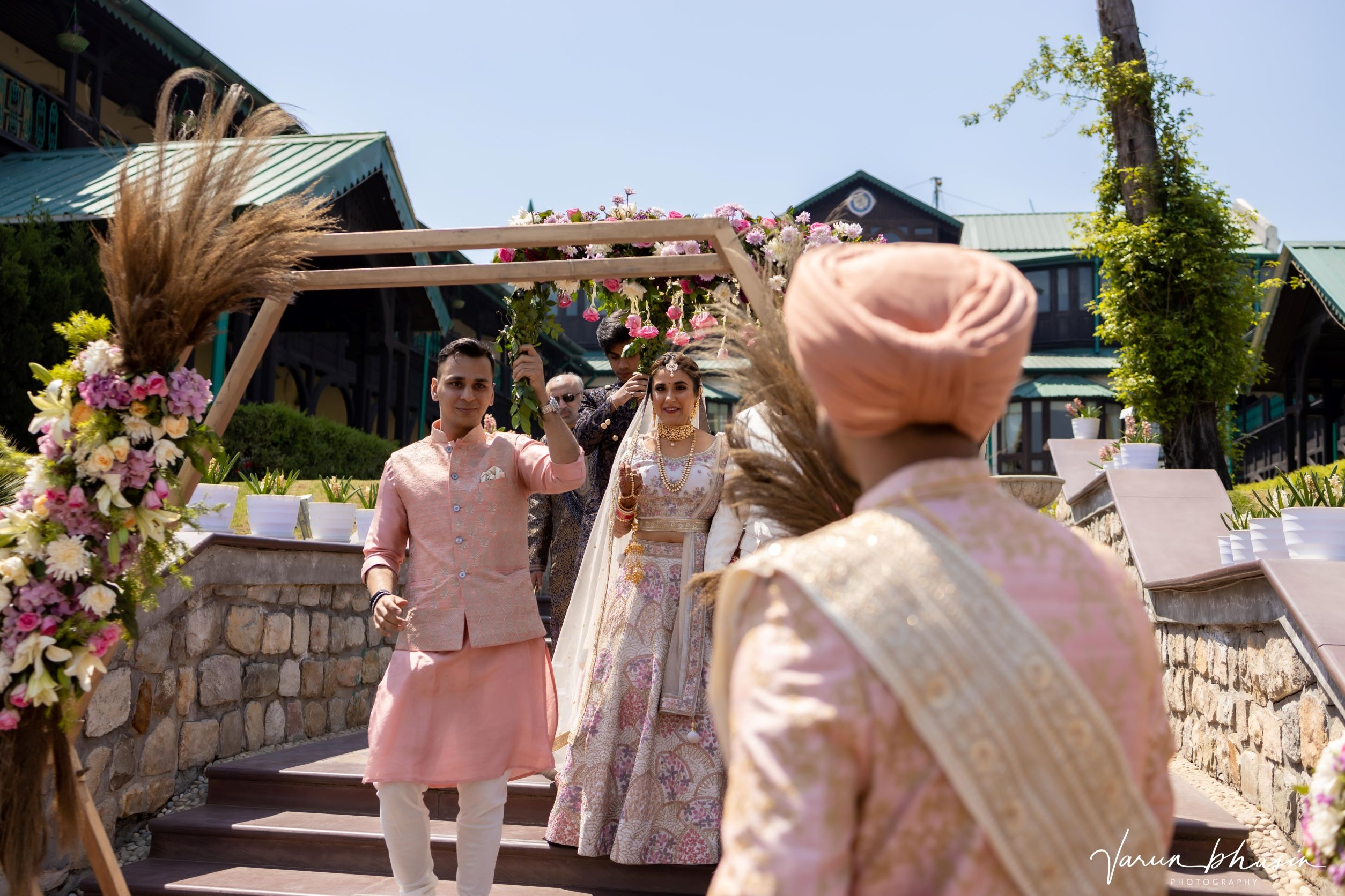 candid shot of the bridal entry