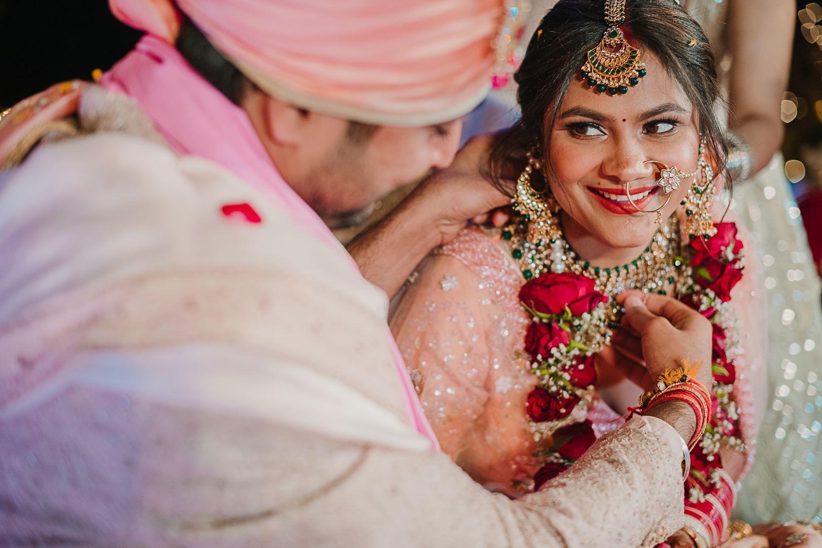 candid shot of the delhi bride