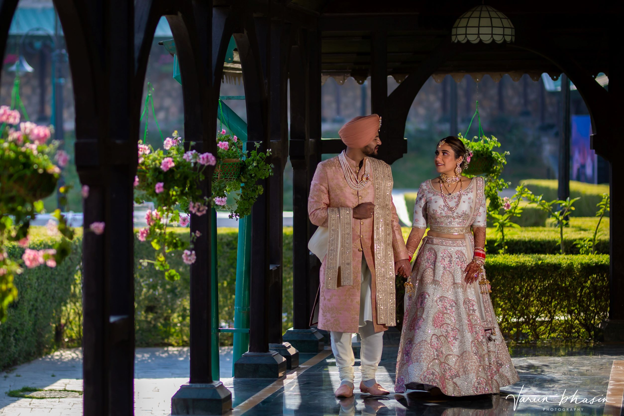 candid shot of the punjabi couple