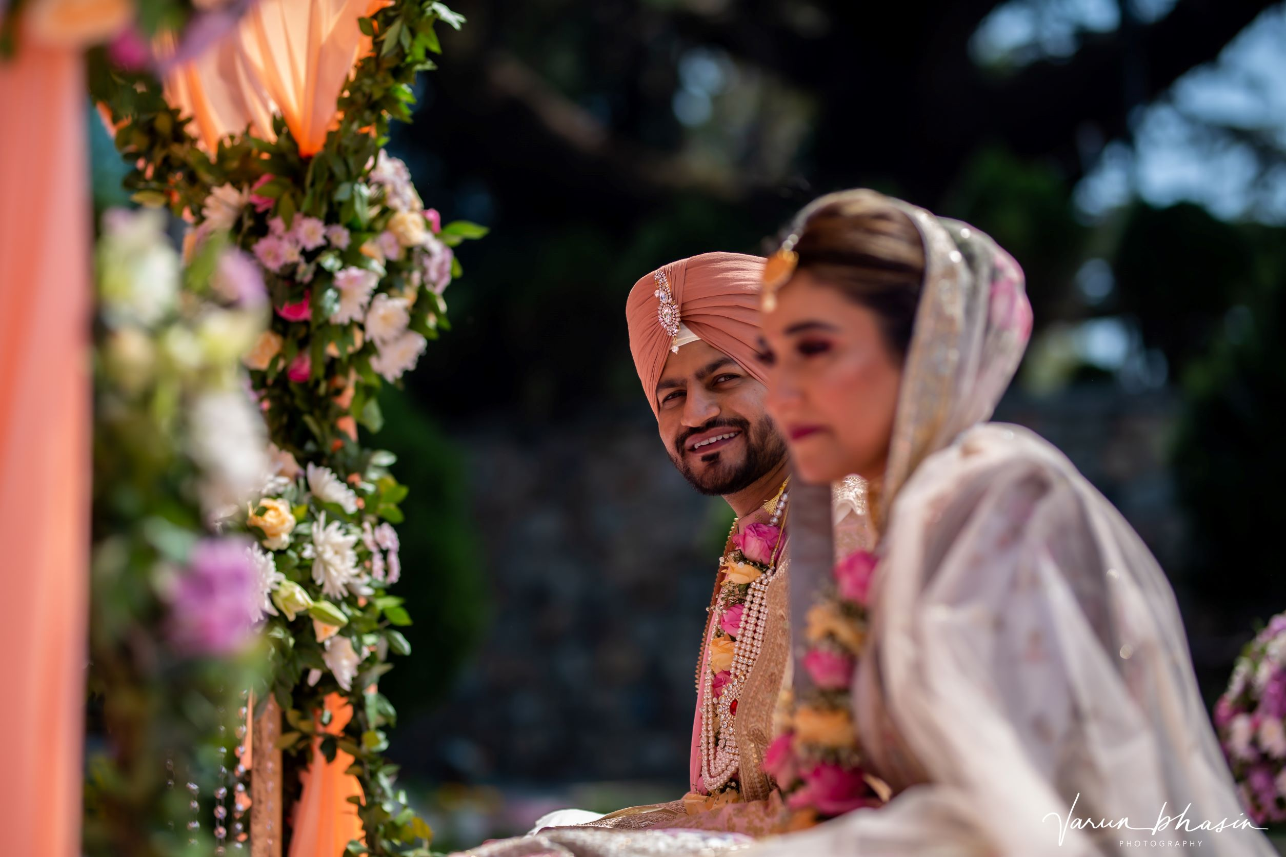 candid shot of the punjabi groom