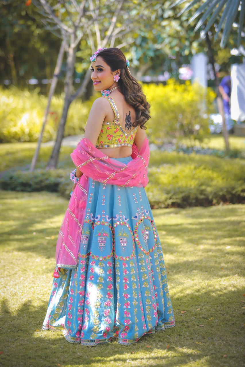 colorful mehendi ceremony dress (1)