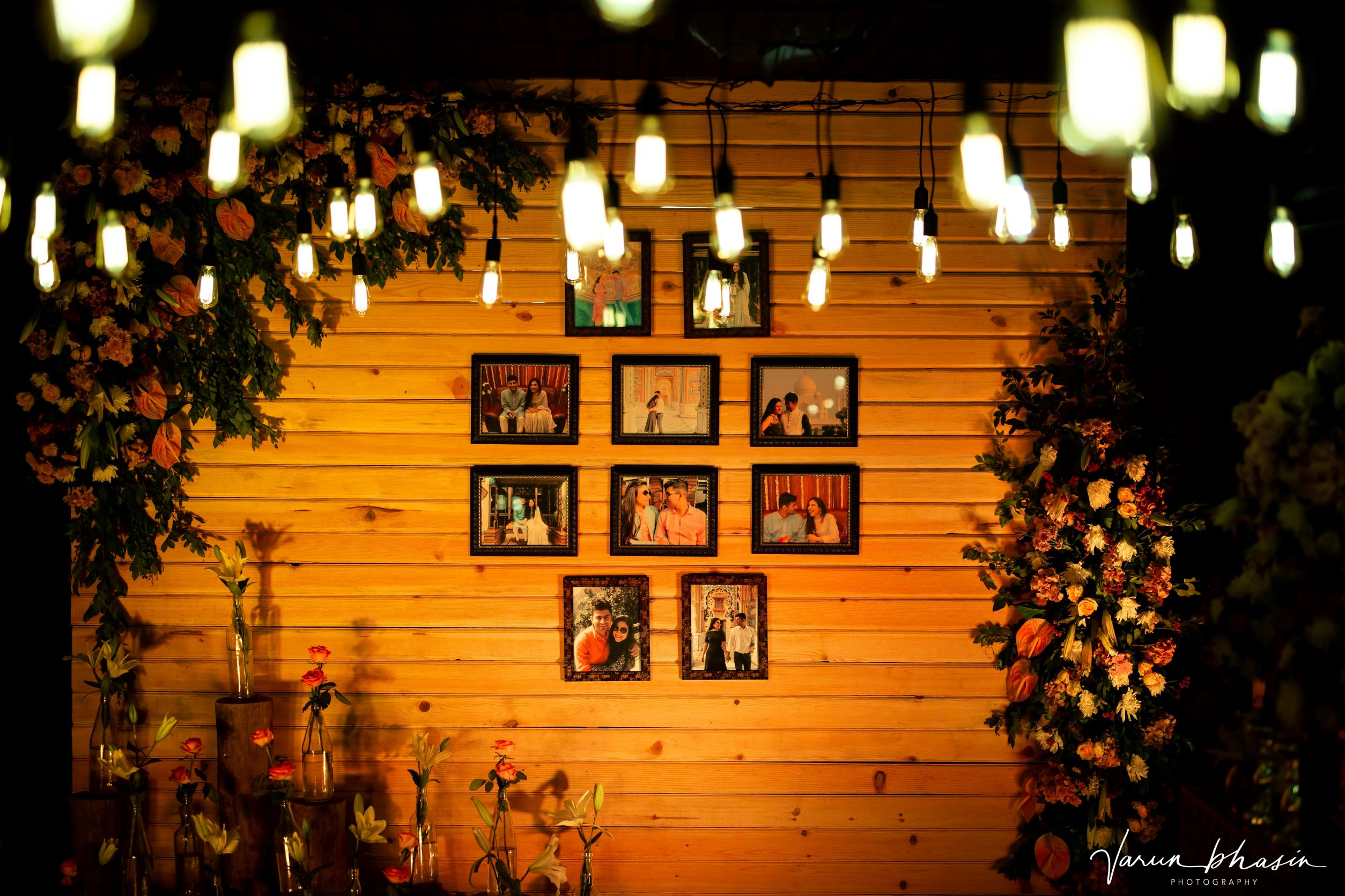 couple's pictures as decor