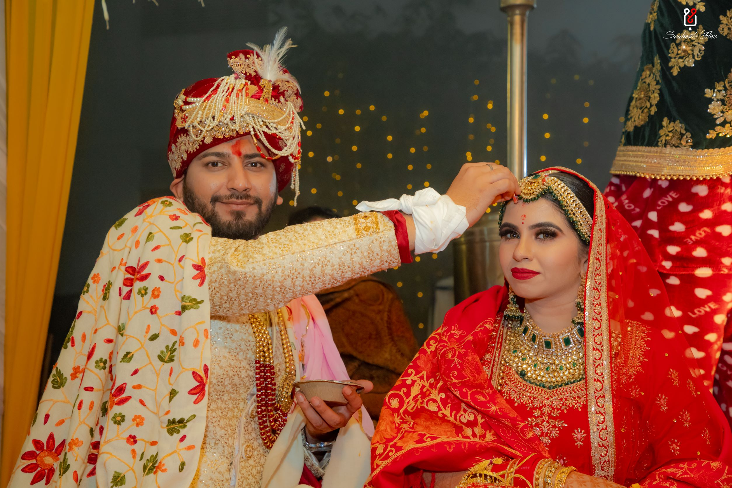 couple at their sindoor ceremony