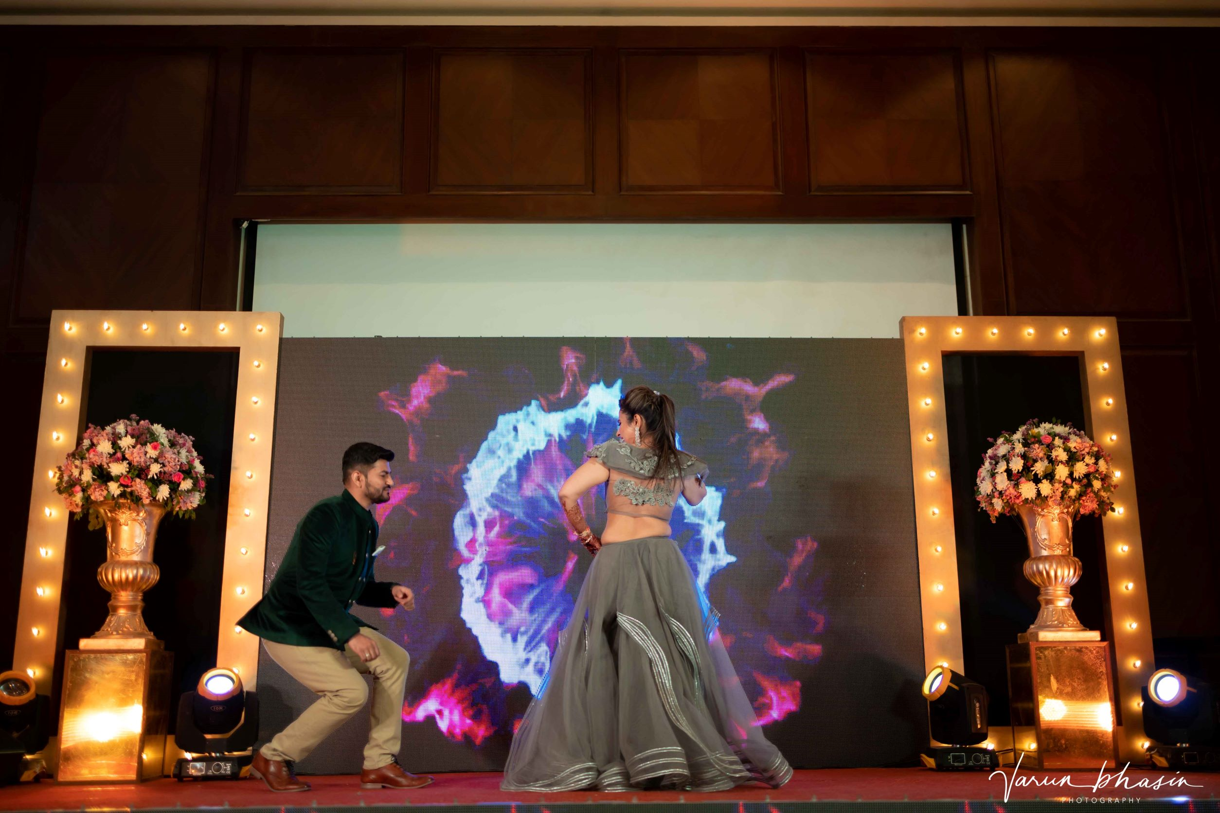 couple dancing on stage