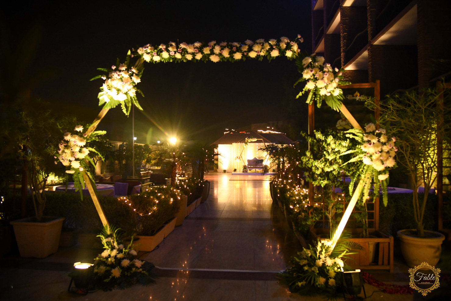 floral wreath entrance