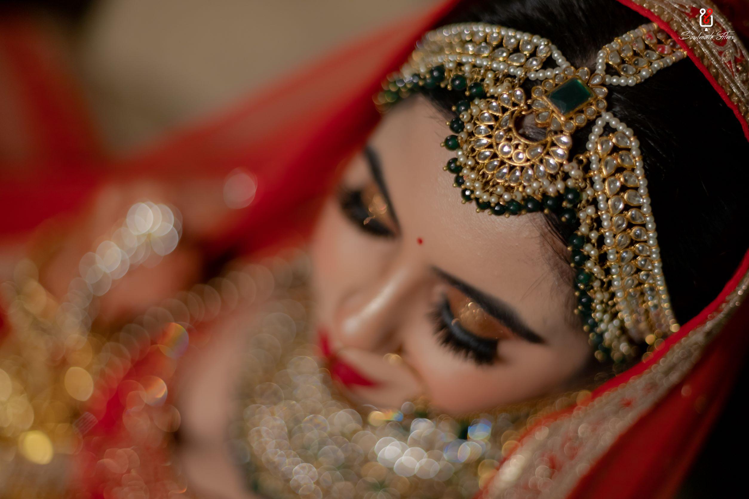 green kundan bridal maathapatti