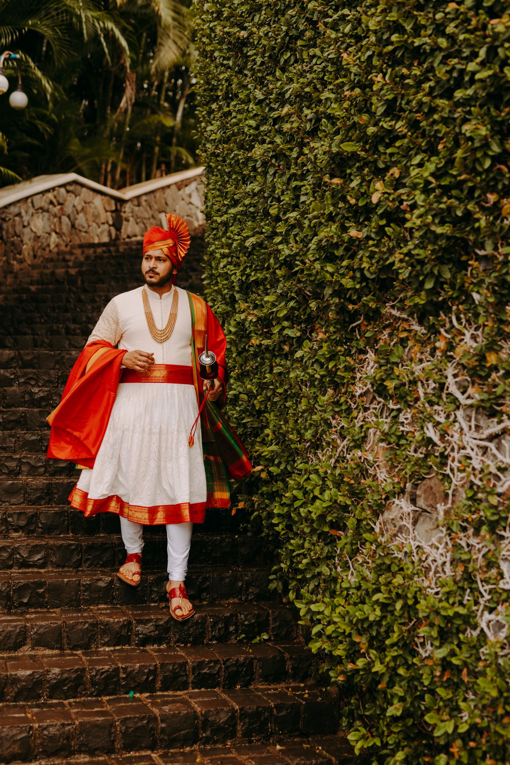 marathi groom in traditional outfit