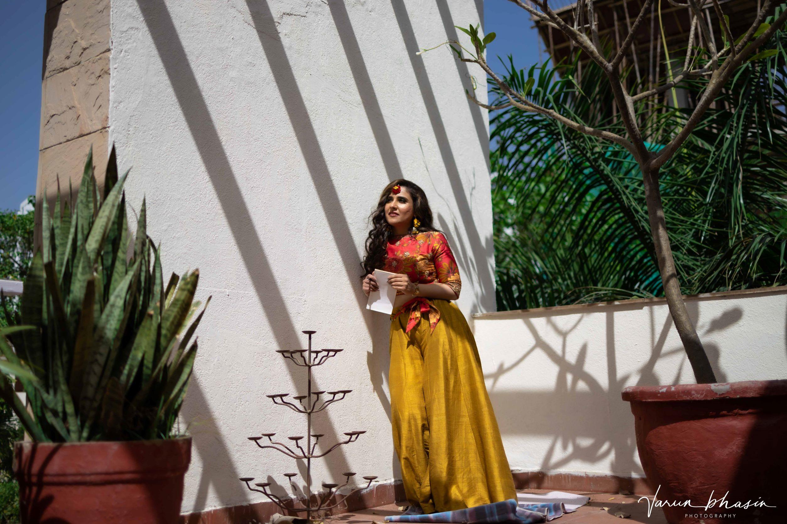 outdoor shot of the bride