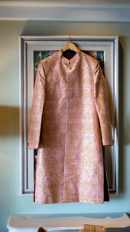 pastel pink sherwani