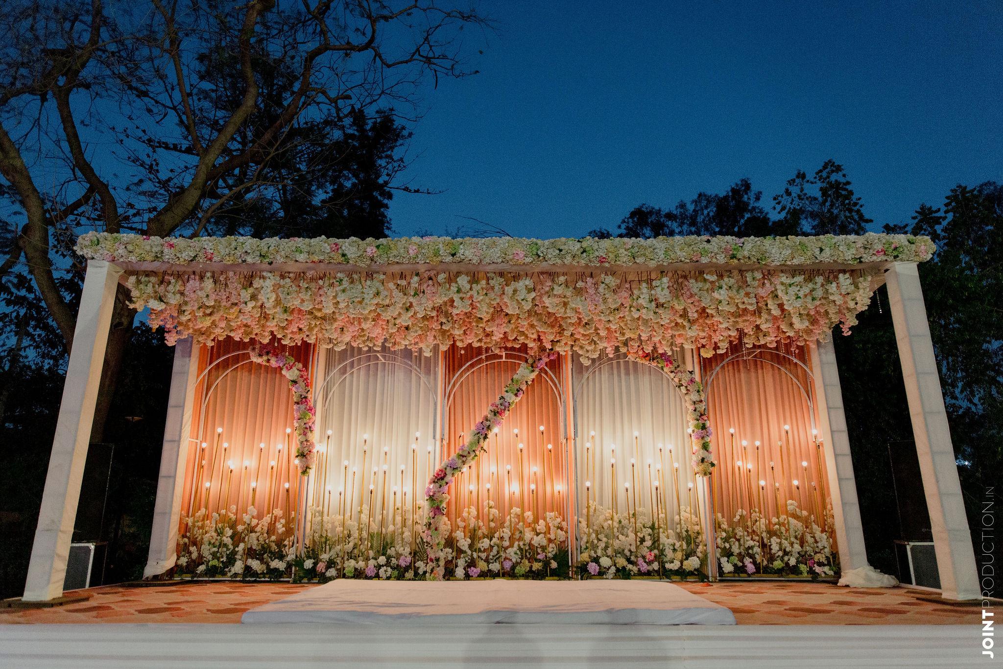 pastel themed wedding decor