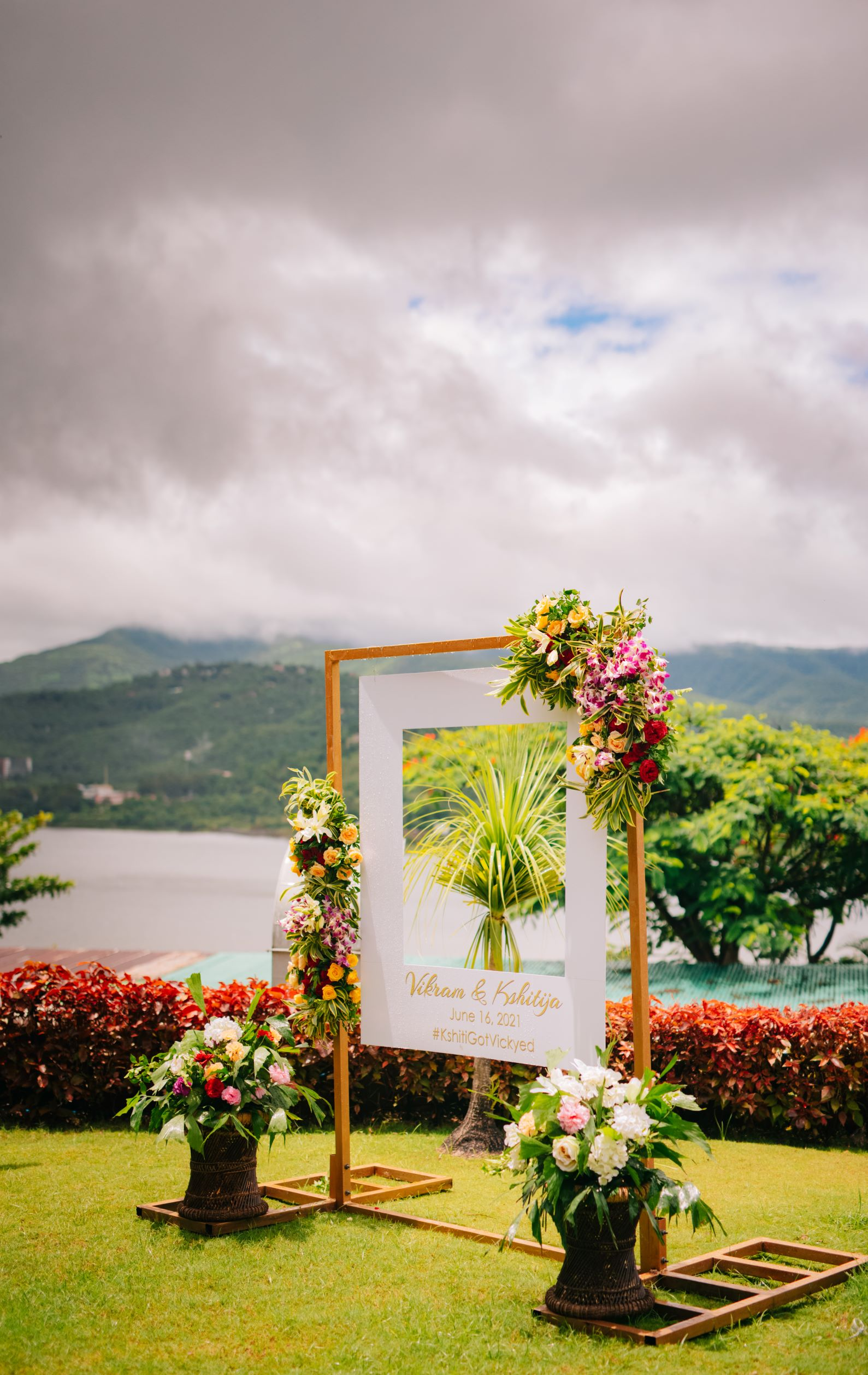 picturesque shot of the floral signage