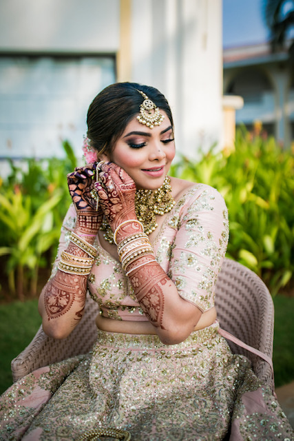 pink bridal makeup