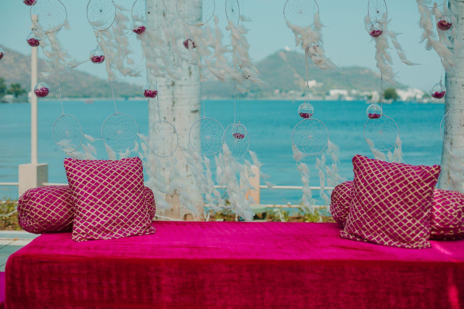pink seating decor