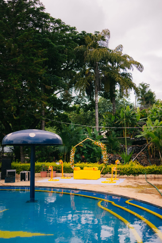 poolside haldi decor