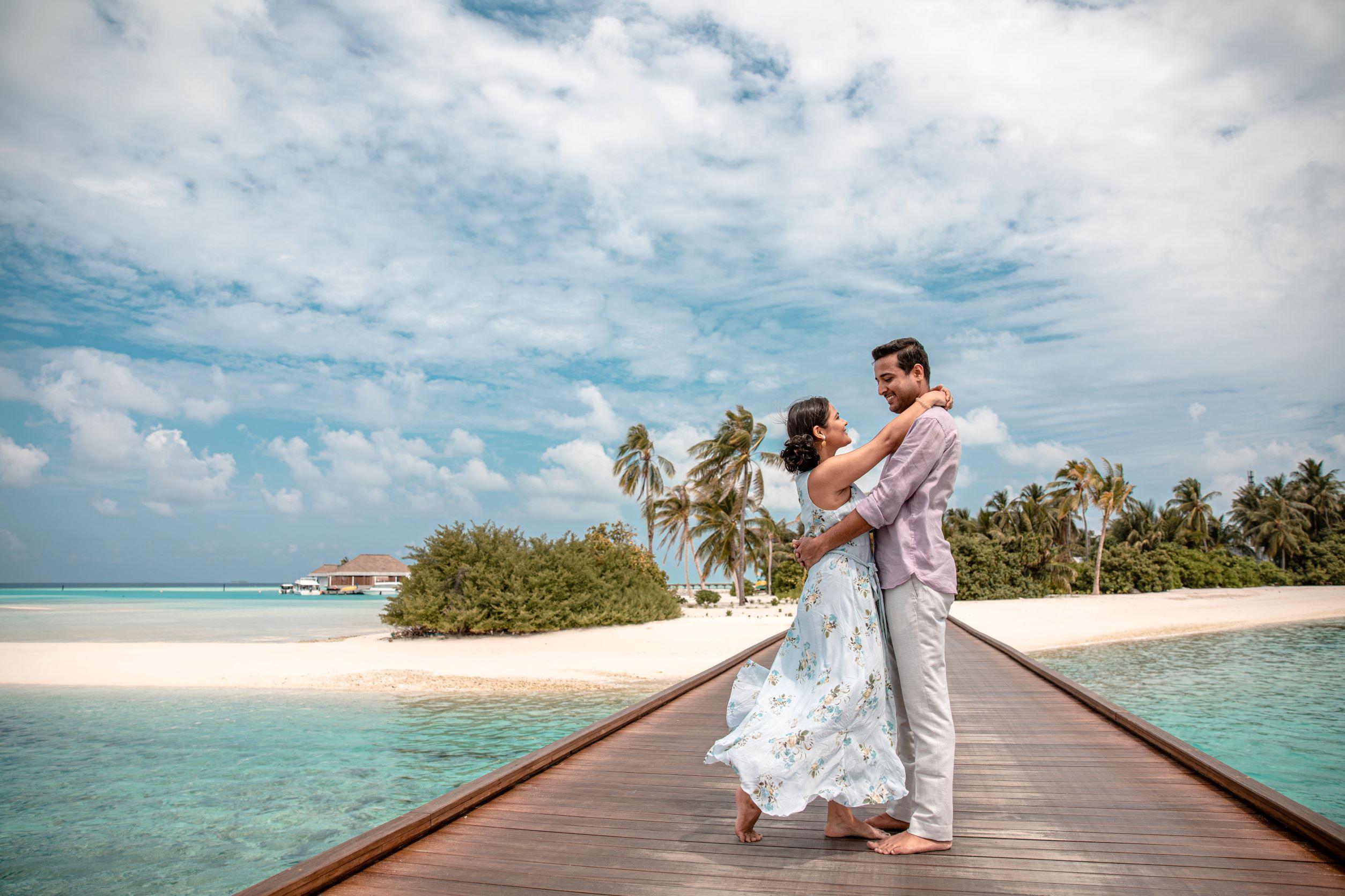 pre wedding shoot in maldives