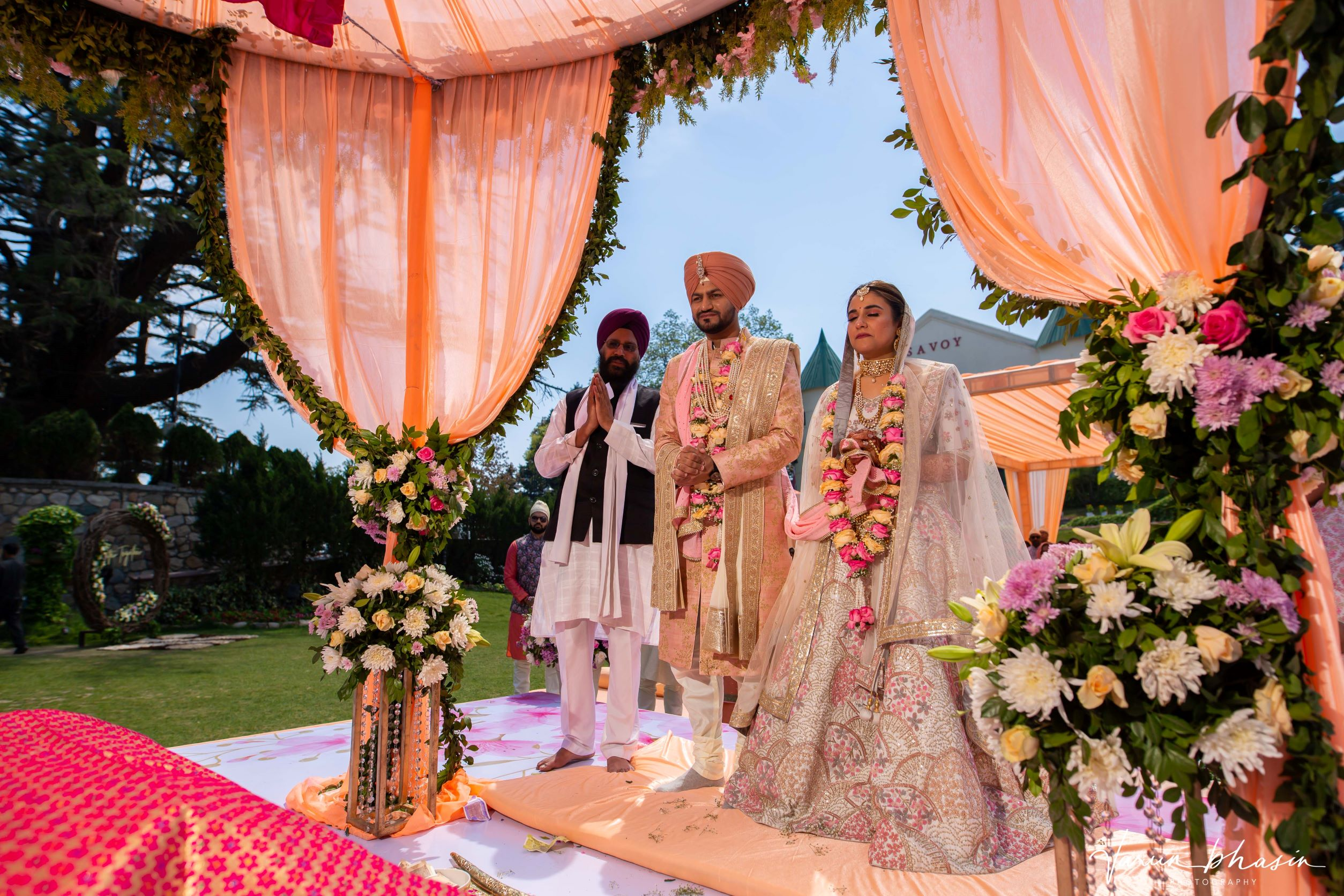 punjabi couple at their wedding