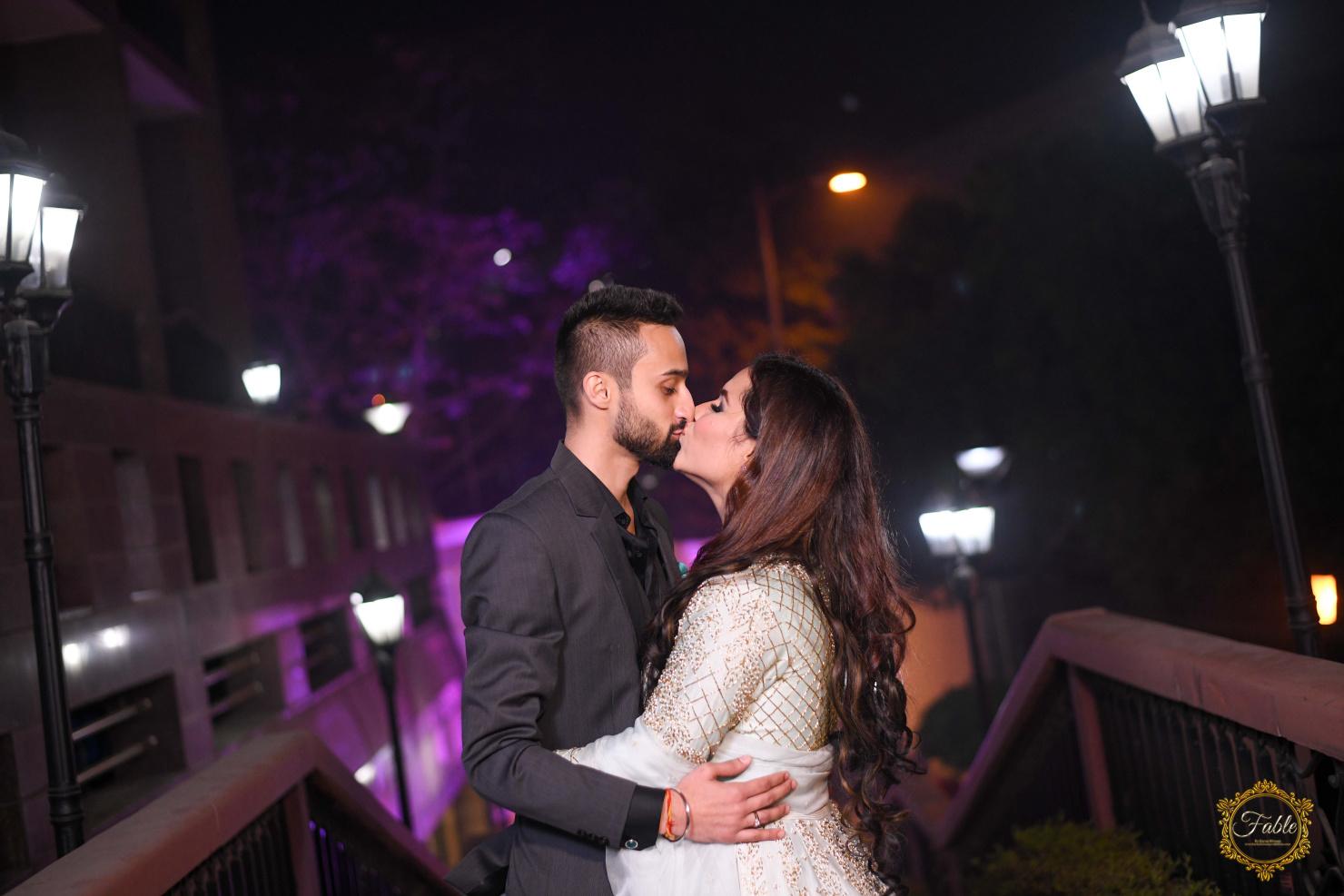punjabi couple kissing