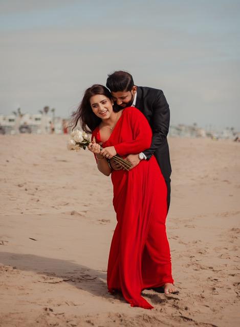 red bridal sarees