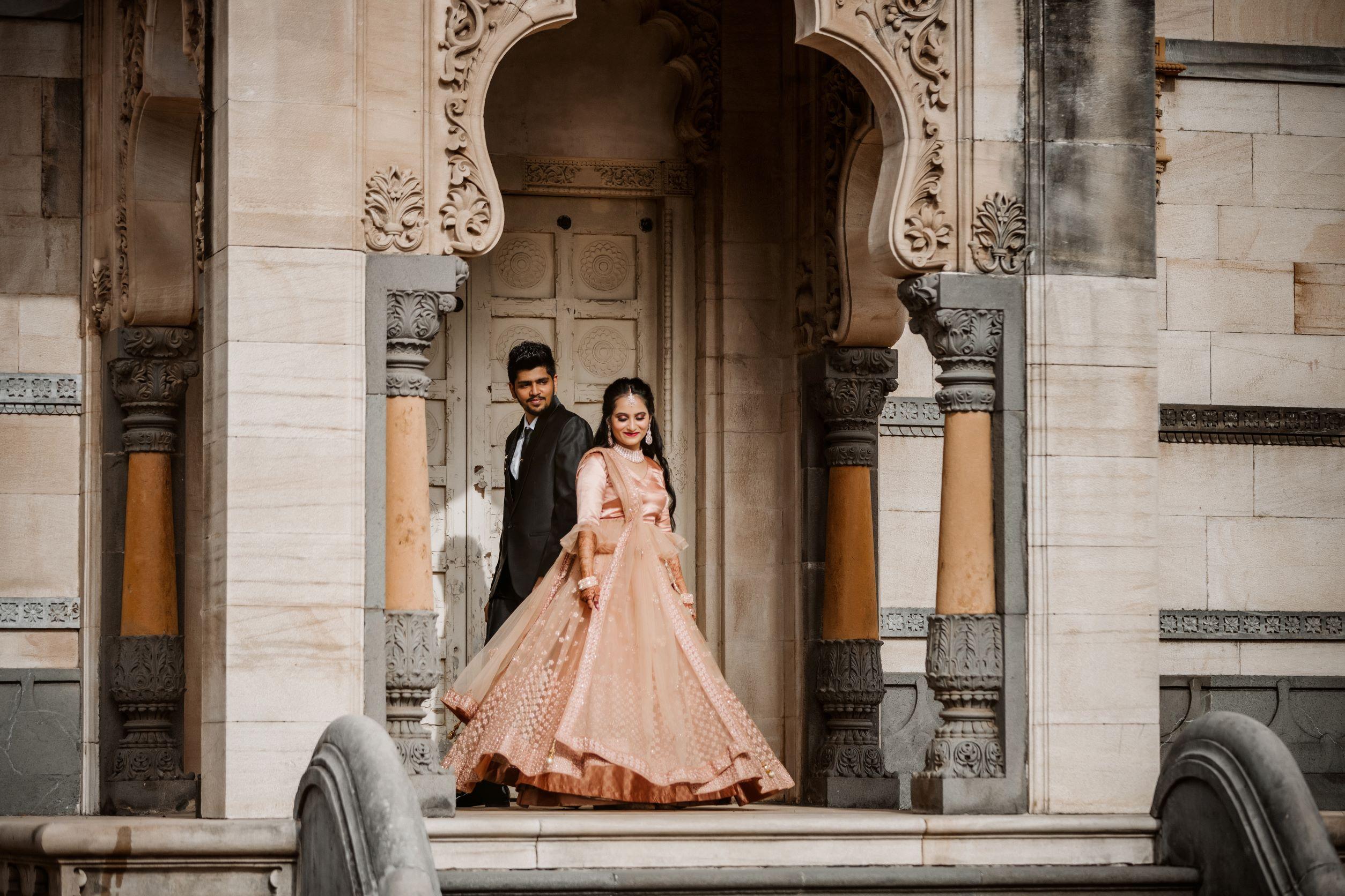 romantic shot of the couple