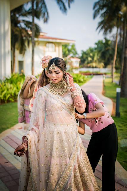 sabyasachi pink bridal lehenga