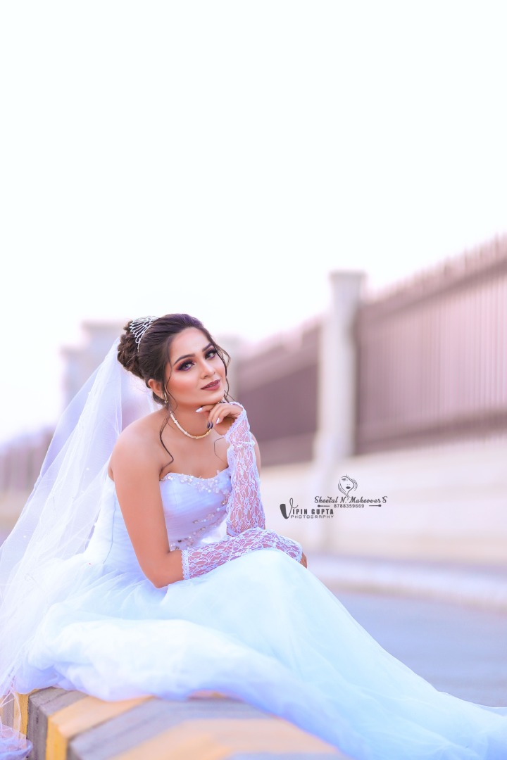 bride in a beautiful white gown