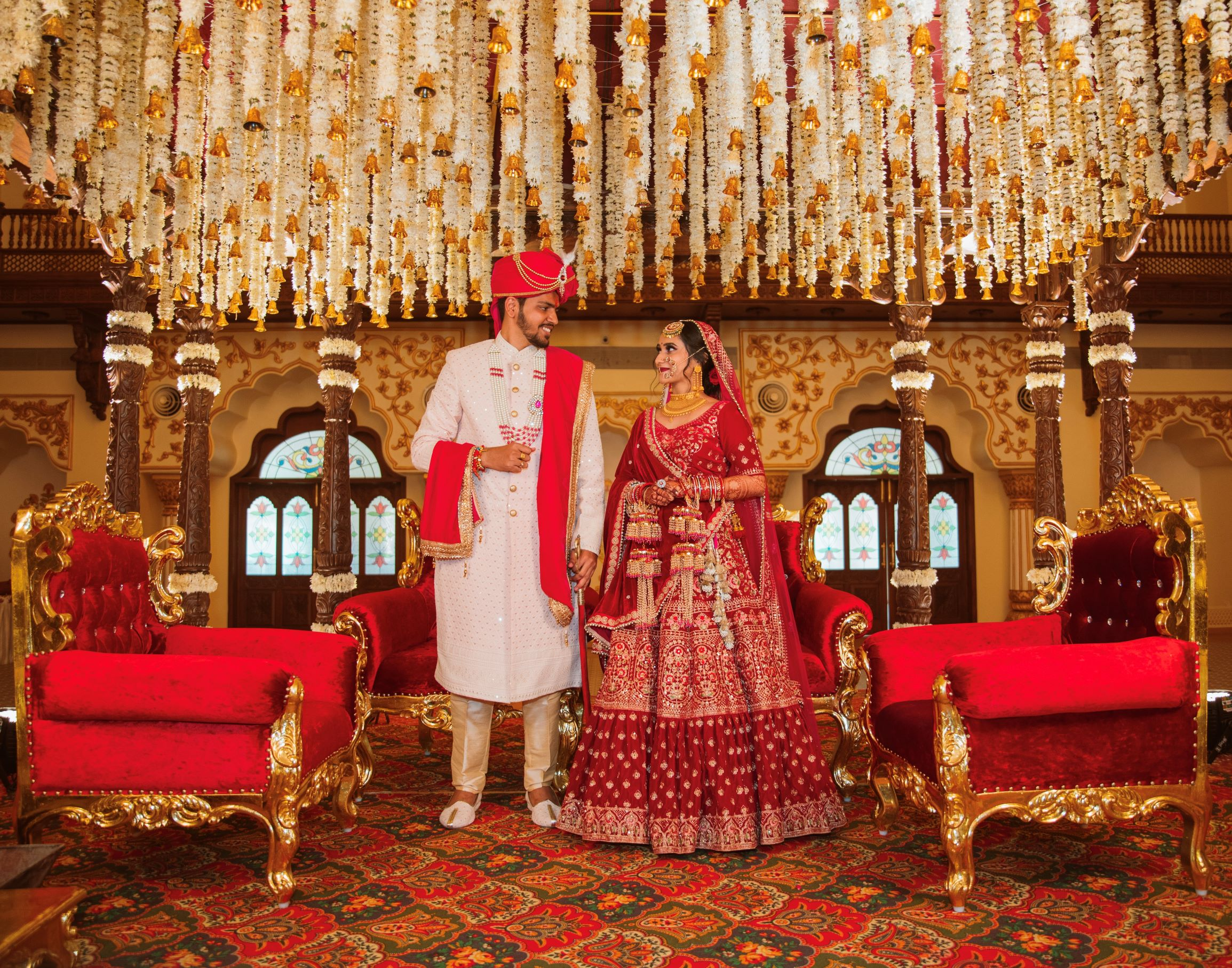 traditional couple at their wedding