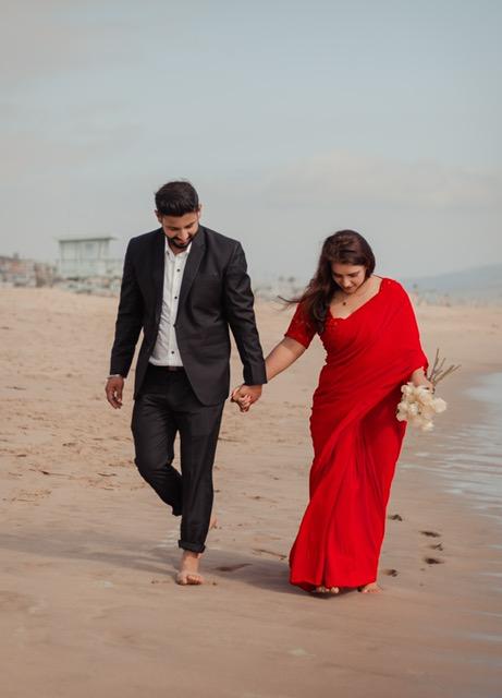wedding shoot at beach images