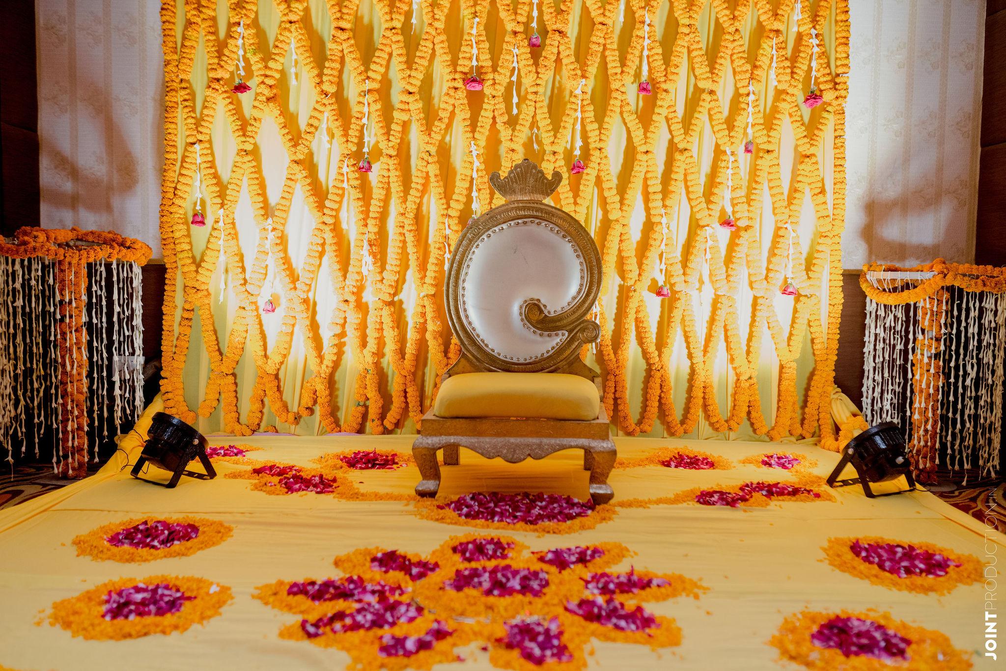yellow haldi decor